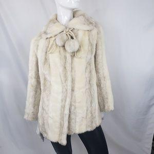Vintage Beckman Faux Fur Jacket  S/M